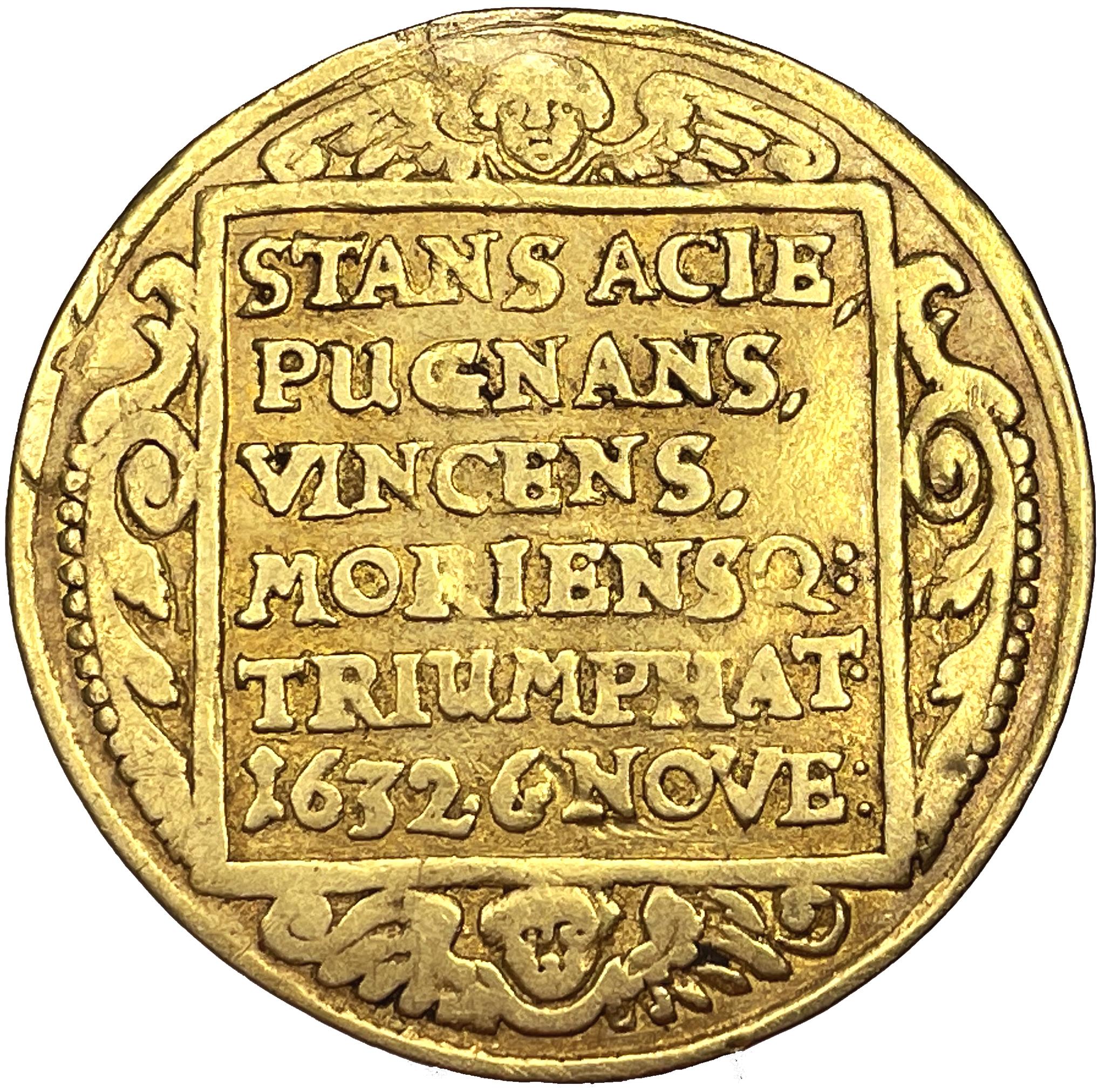 Gustav II Adolf - 2 dukater - kastmynt till konungens begravning 1634 - Ex. Svensson - troligtvis UNIK i privat ägo