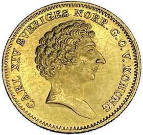 Karl XIV Johan - Dukat 1842 - Vackert exemplar