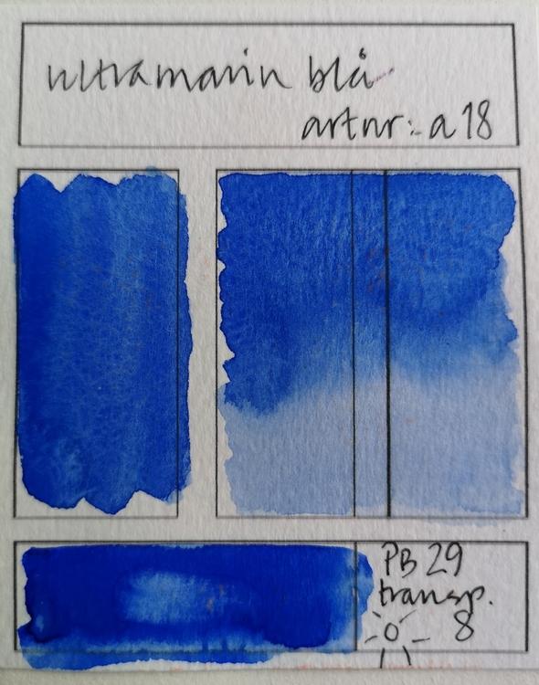 a18 Ultramarinblå