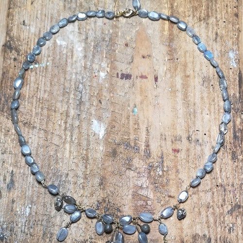 Halsband Labradorit & Pyrit