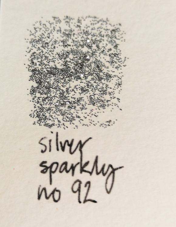 No 92 silver sparkly