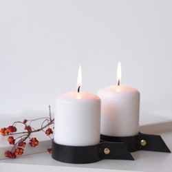 ALVA - 2 big candleholders