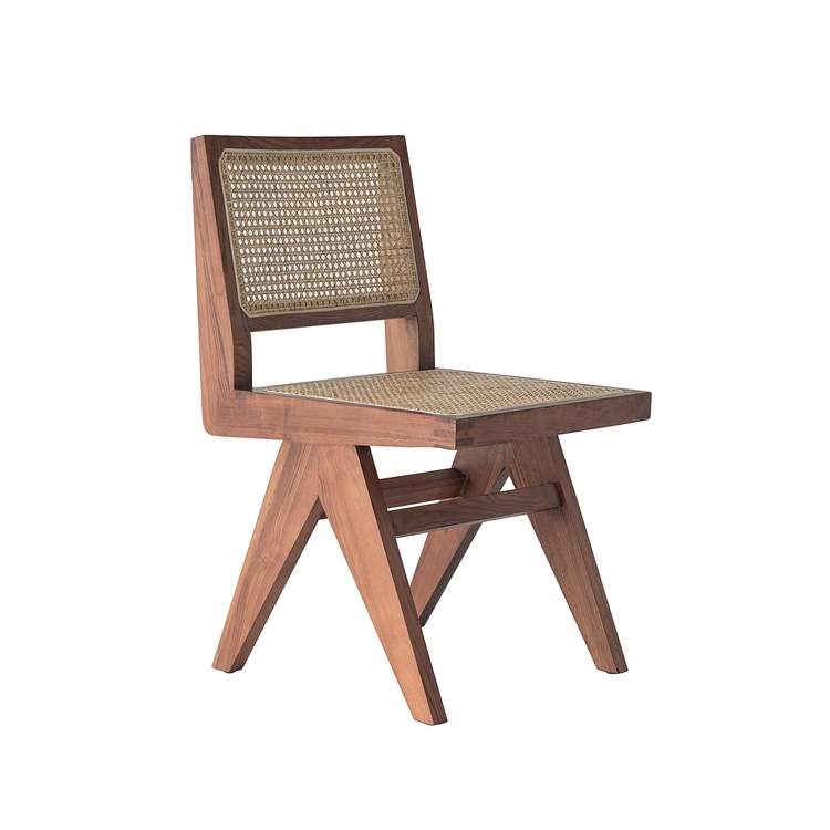 Armless Dining Chair brown
