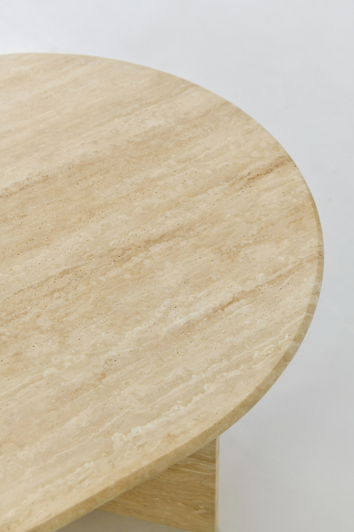 Alice Coffee Table oval Travertine