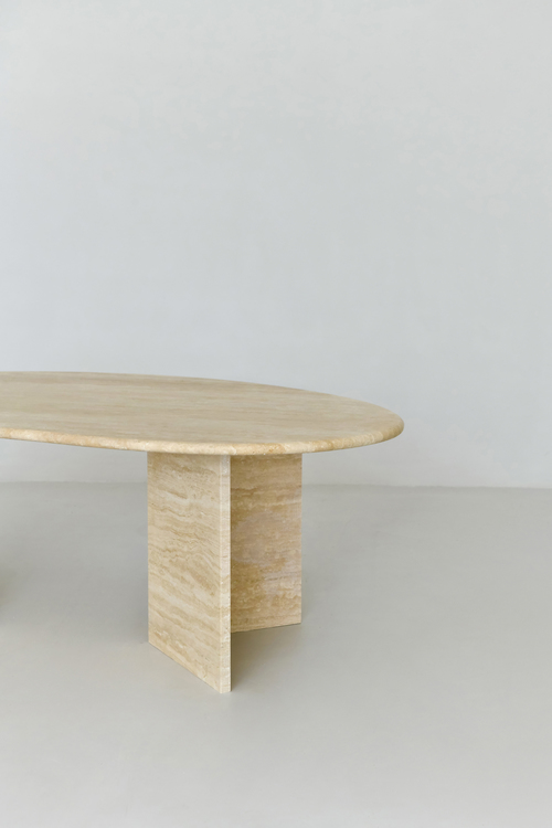Alice Coffee Table bean-shaped Travertine