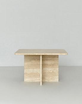 Stella Square Side/Coffee Table Travertine