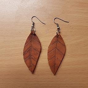 Örhängen - rustikt höstlöv