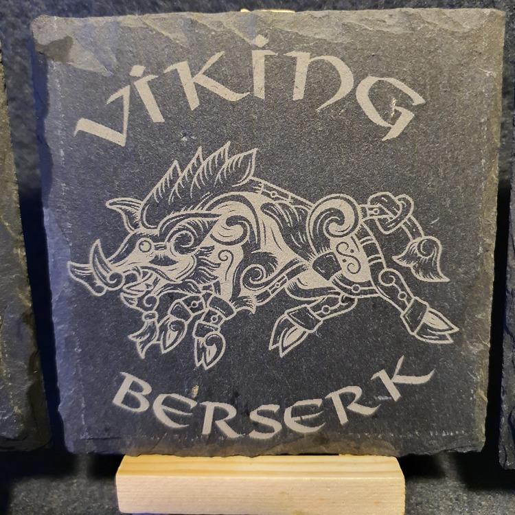 Viking motiv, 4st olika lasergraverade
