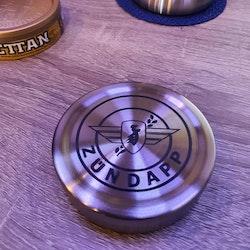 Lasergraverad Snusdosa Zundapp i Rostfritt för lössnus dosa