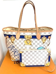 LOUIS VUITTON Porto Cervo Neverfull Tote Bag MM N41732