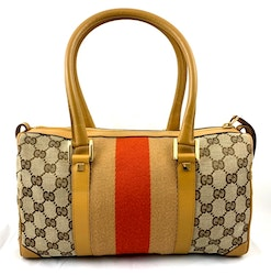 Gucci Monogram Mini Boston Handbag
