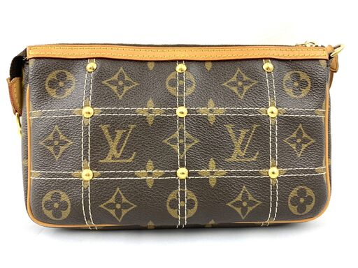 Louis Vuitton Limited Edition Monogram Canvas Riveting Pochette