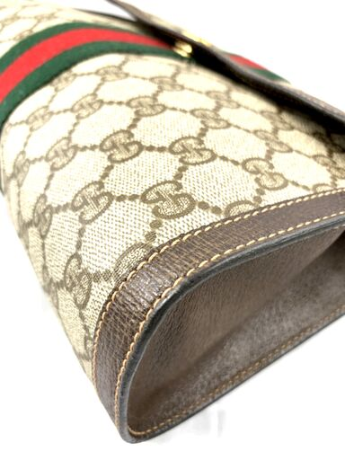 Gucci Supreme GG Monogram Clutch with Web