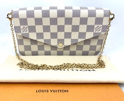 Louis Vuitton Pochette Félicie Azur Damier Canvas