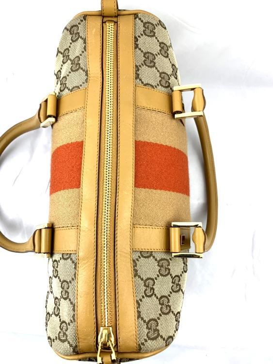 Gucci Monogram Mini Boston Handbag