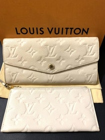 Louis Vuitton Curieuse Empreinte Monogram Wallet Cream