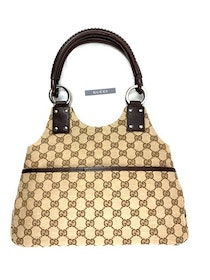 Gucci Monogram GG Brown Tote Bag