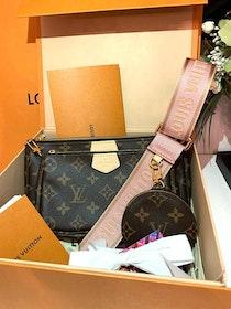 New! Louis Vuitton Multi Pochette Accessoires Rose Clair