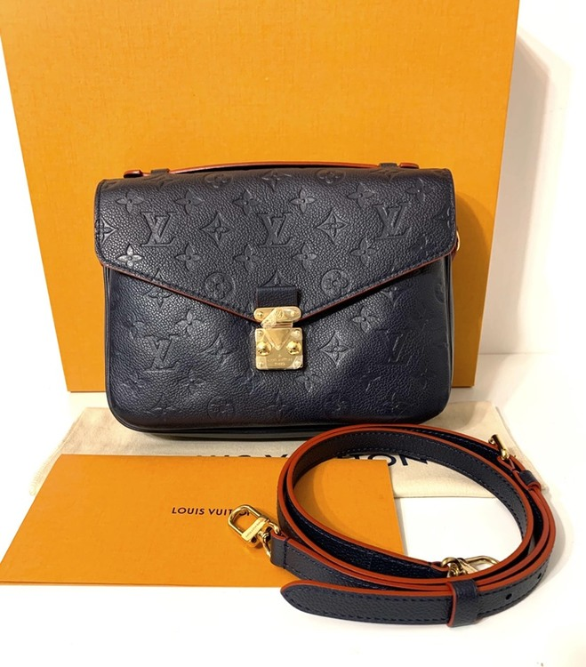 Louis Vuitton Pochette Metis Empreinte leather Marine Rougee