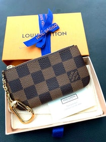 Brandnew Louis Vuitton Key Pouch Damier Ebene