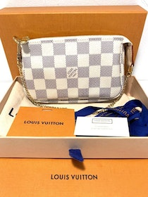Brandnew Louis Vuitton Mini Pochette Damier Azur