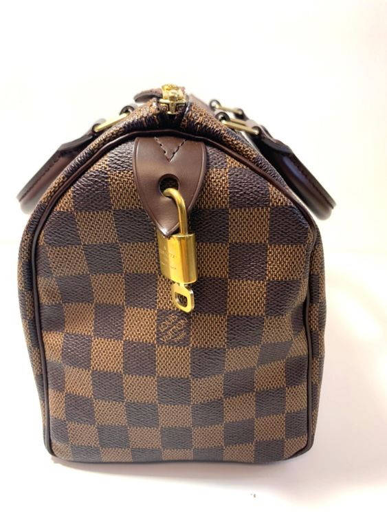 Louis Vuitton Speedy 25 Damier Ebene Canvas Bowling Bag