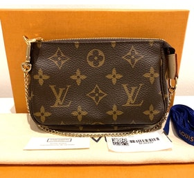Brand New Louis Vuitton Mini Pochette Accessoires Monogram Canvas