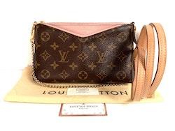 Louis Vuitton Pallas Clutch Monogram Canvas Rose Poudre Pink Shoulder/Crossbody bag