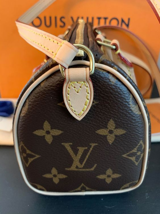 Louis Vuitton Speedy Nano Monogram Crossbody Bag