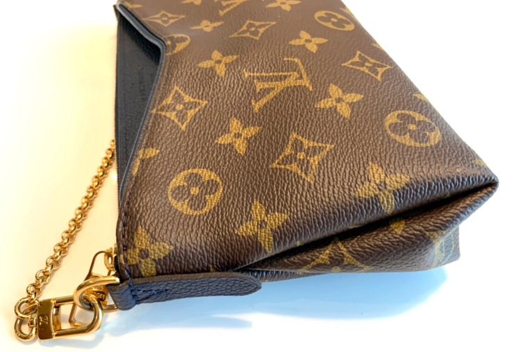Louis Vuitton Shoulder Bag Chain Pouch Pallas Clutch Monogram Blue Marine M44058