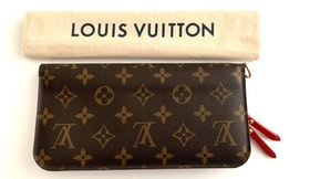 Louis Vuitton Insolite Monogram Canvas Red Long Wallet