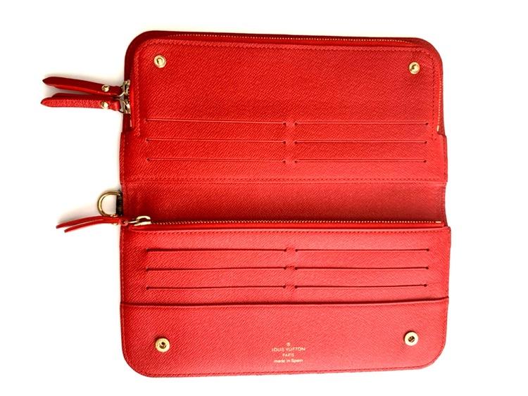 Louis Vuitton Insolite Monogram Canvas Red Long Wallet