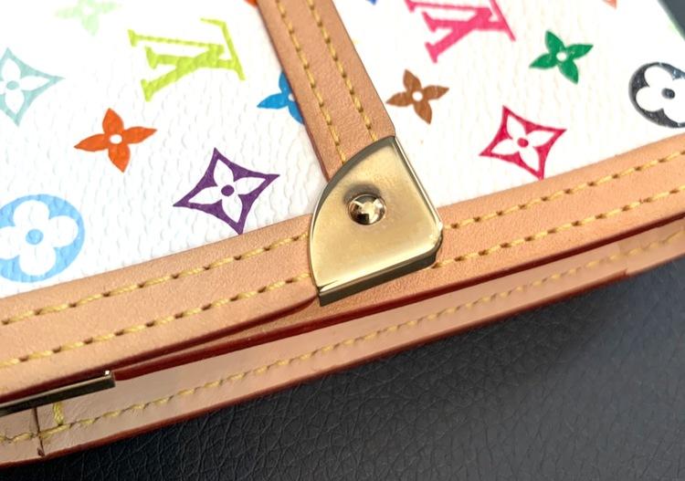 Louis Vuitton White Multicolor Porte Tresor International Wallet