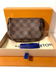 Louis Vuitton Mini Pochette Damier Ebene Canvas Bag