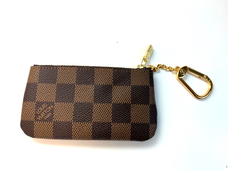 Louis Vuitton Key Pouch Damier Ebene Canvas