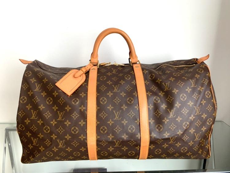 Louis Vuitton Keepall 60 Monogram Canvas Luggage Bag