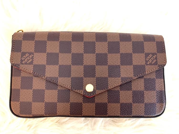 Louis Vuitton Pochette Félicie Damier Ebene Canvas Bag