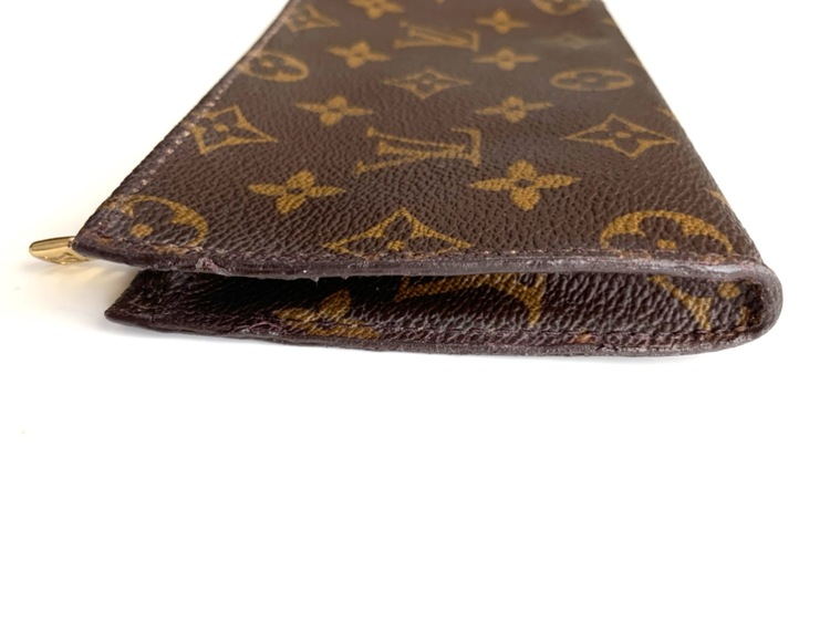 Authentic LOUIS VUITTON Bucket PM Pouch Monogram Leather Brown