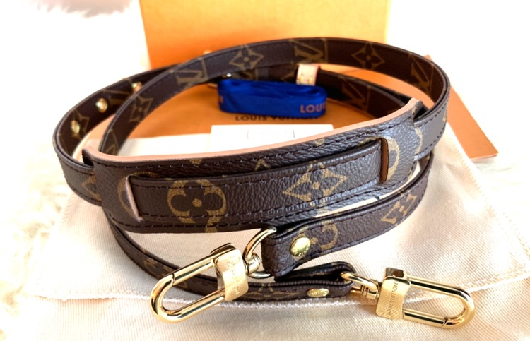 LOUIS VUITTON ADJUSTABLE SHOULDER STRAP 16 MM MONOGRAM