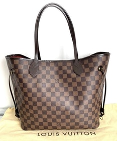 Louis Vuitton Neverfull MM Damier Ebene Canvas Bag