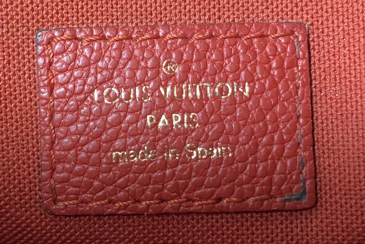 Louis Vuitton Pallas Clutch Red Monogram Canvas Bag