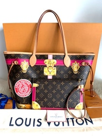 Louis Vuitton Monogram Summer Trunks Neo Neverfull MM Tote Bag