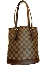 LOUIS VUITTON BUCKET PM DAMIER EBENE BAG