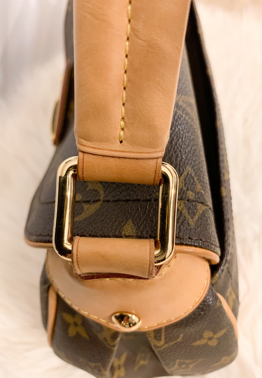Louis Vuitton Brown leather Beverly MM shoulder bag