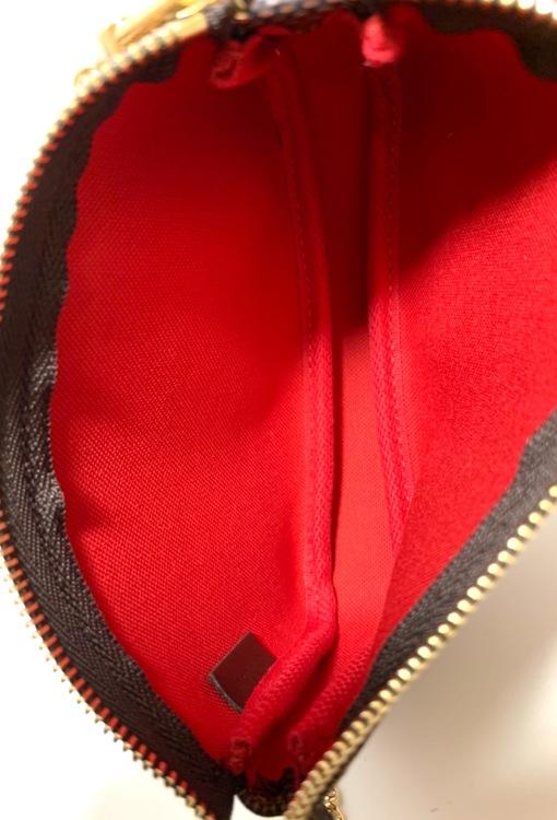 Louis Vuitton Mini Pochette Accessoires Damier Ebene Canvas Bag