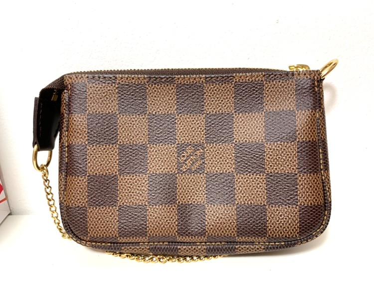 Louis Vuitton Mini Pochette Accessoires Damier Ebene Canvas Bag