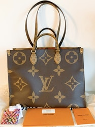 Louis Vuitton On The Go GM Reverse Canvas Bag