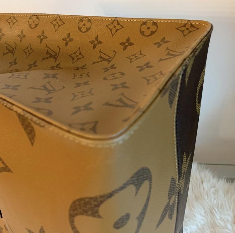 Louis Vuitton On The Go GM Reverse Canvas Bag
