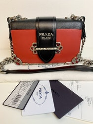 Leather Prada Cahier Shoulder Bag