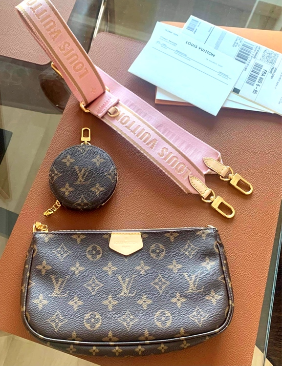 Louis Vuitton Multi PochetteAccessoires  Rose Clair Bag